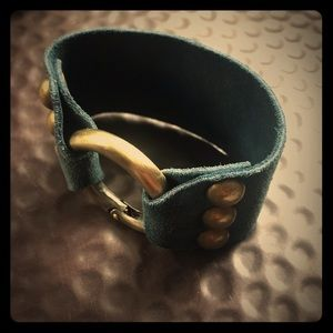 Jewelry - Boho Teal suede cuff